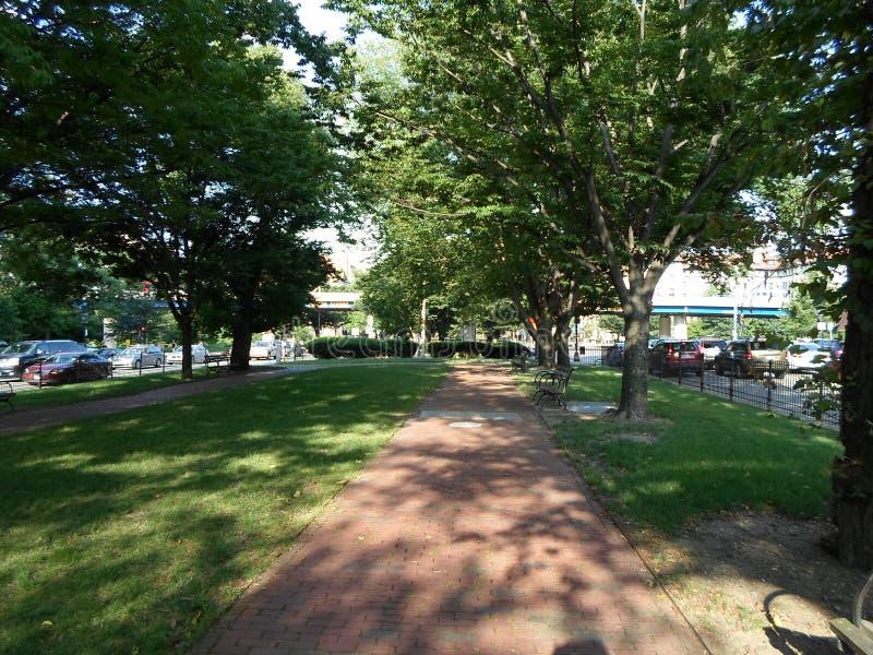 Park in Kenmore Square, Boston, Massachusetts, USA stockbild