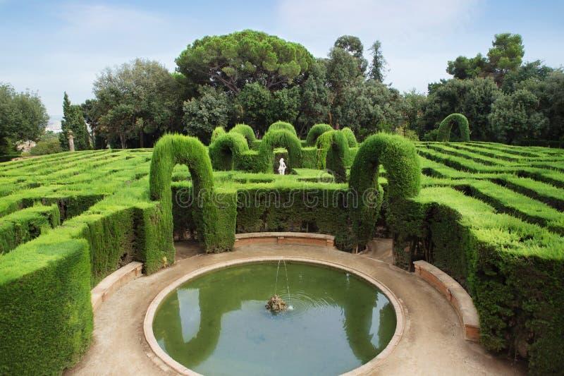 Park labyrinth royalty free stock photos