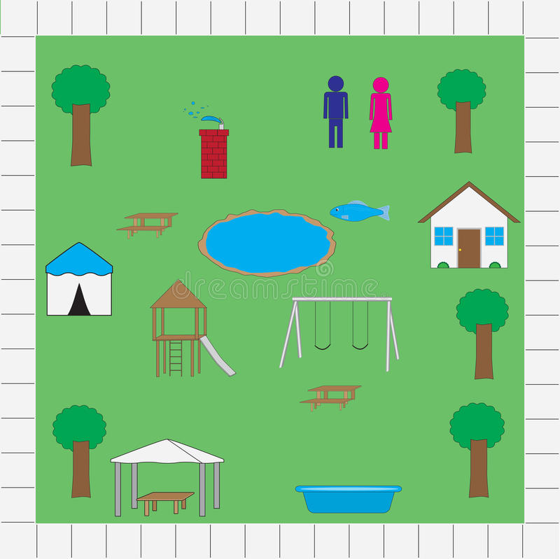 Download Park map icons vector pack stock vector. Image of park - 42449524