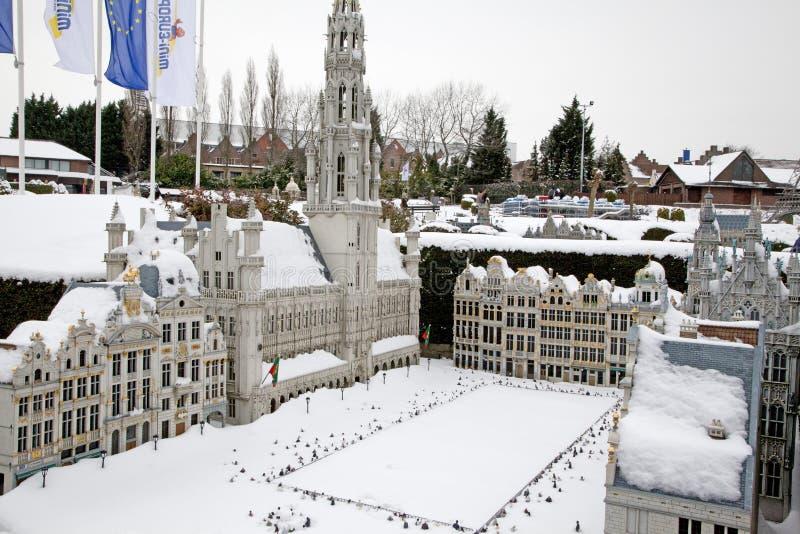 Park Mini-Europe in Brussel stock image