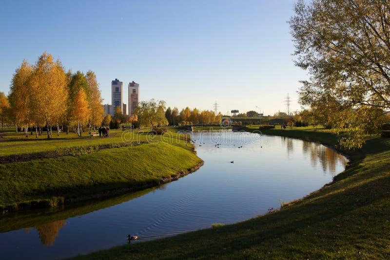Park in Minsk, Wit-Rusland stock foto