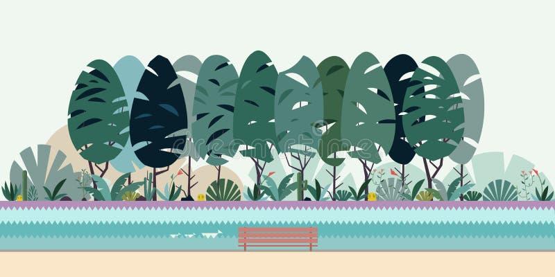 Park mit See stockbild