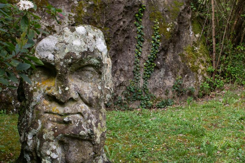 The park of the Monsters of Bomarzo royalty free stock image
