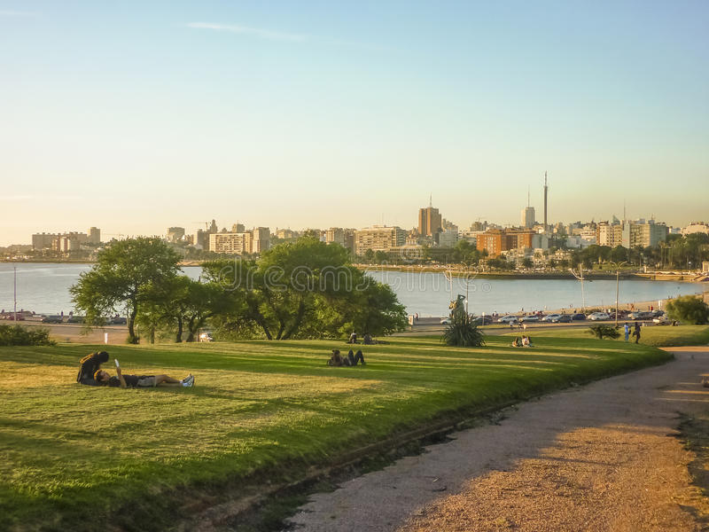 Park Montevideos Parque Rodo lizenzfreie stockfotografie