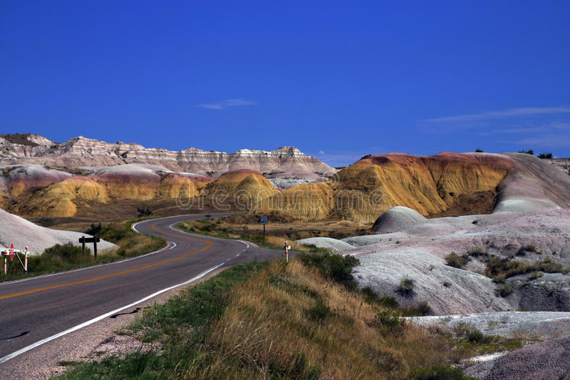 park narodowy badlands obraz stock