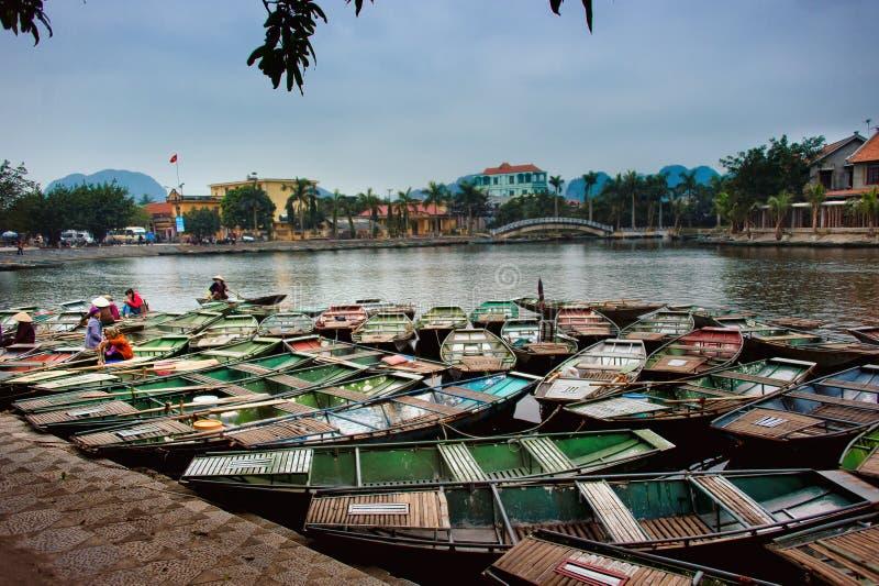 Park Narodowy Ninh Binh Wietnam 14-12-2013 fotografia stock