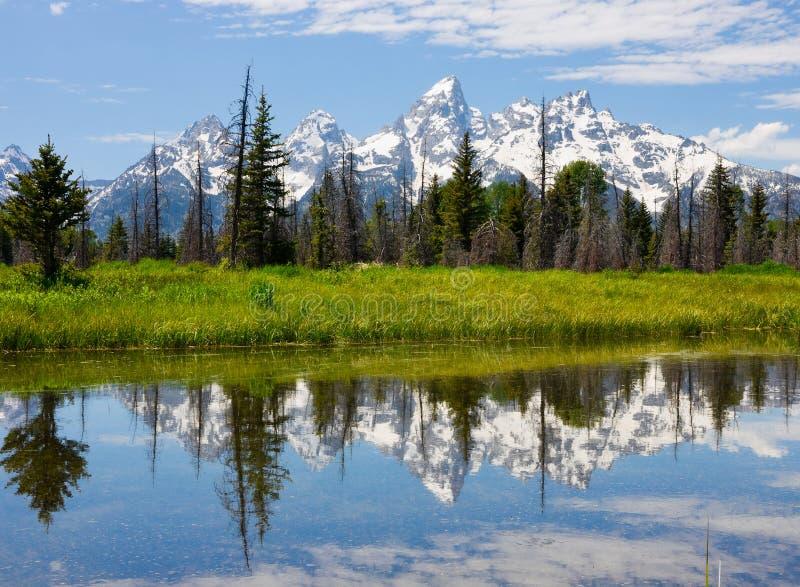 park narodowy uroczysty teton zdjęcie royalty free