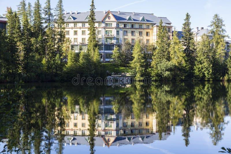 Park Narodowy Wysoki Tatras Strbske pleso Sistani zdjęcie royalty free