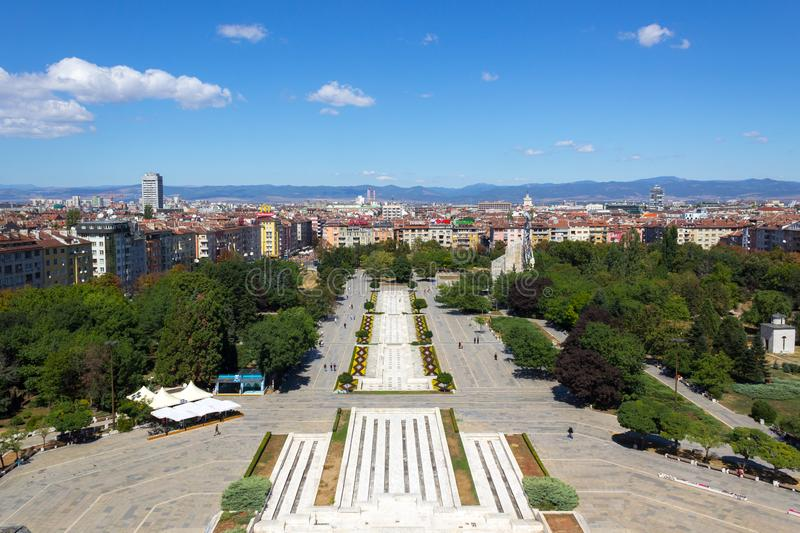 Park National Palace of Culture in Sofia stock photo