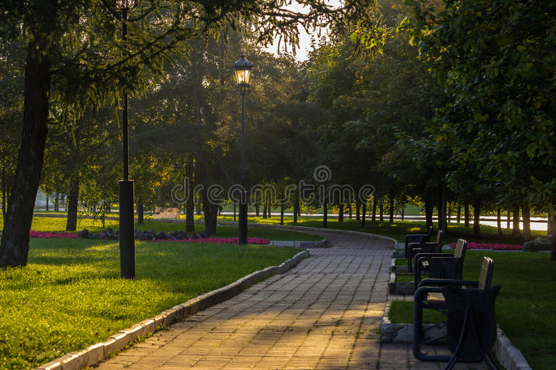 Download Park stock image. Image of background, benches, park - 33600475