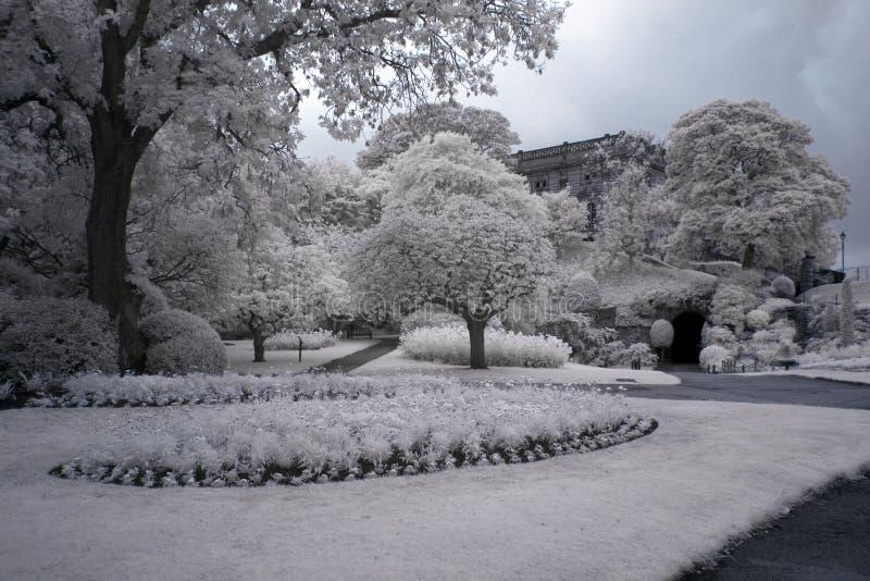 Park at Nottingham Castle stock images
