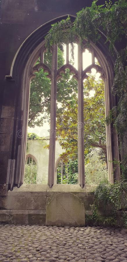 Ruins of St. Dunstan, London, England stock photos