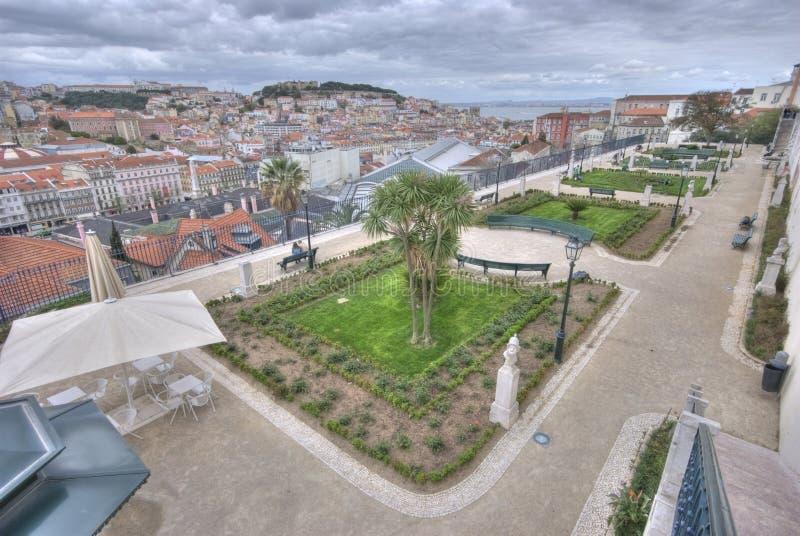 Park over lisbon royalty free stock photo