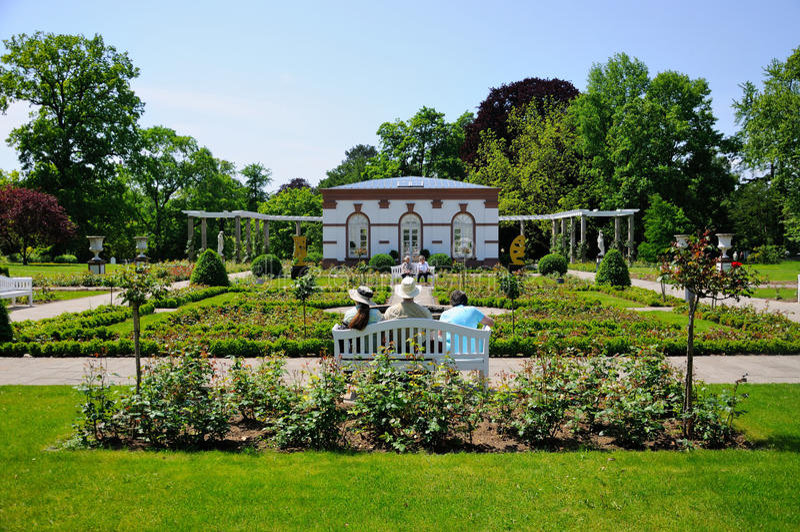 Park Palmen Garten, Frankfurt am Main. Hessen, Germany royalty free stock image