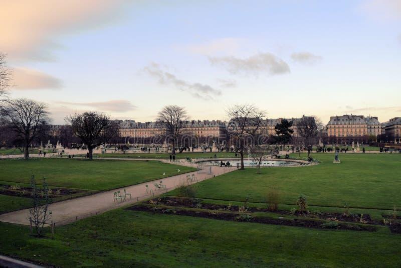 Park at Paris stock photos