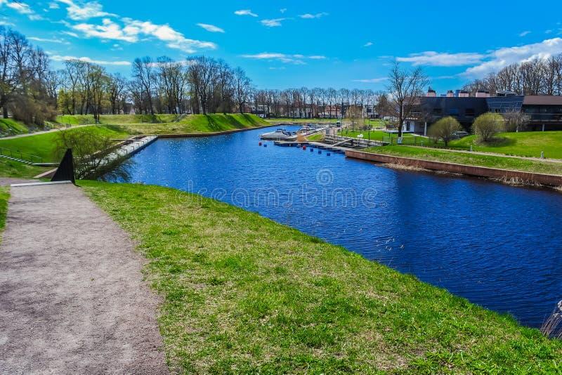 Park in Parnu - Estland stockfoto