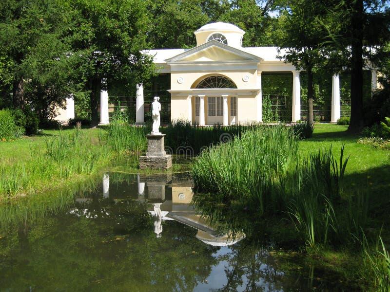 Park in Pavlovsk, pavilion. royalty free stock images