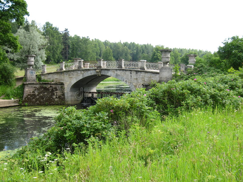 Park in Pavlovsk, surroundings of St. Petersburg stock photo