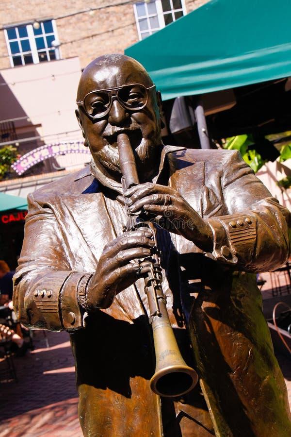 Park Pete Fountain van de Legenden van New Orleans het Muzikale royalty-vrije stock foto