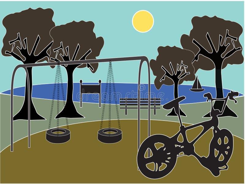 park playground απεικόνιση αποθεμάτων