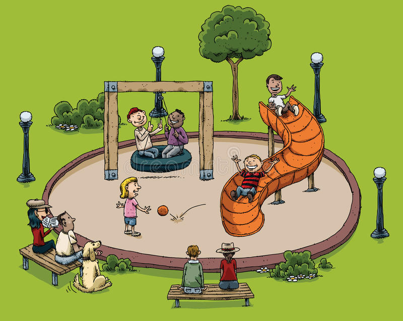 Download Park Playground Stock Illustration - Image: 41750613
