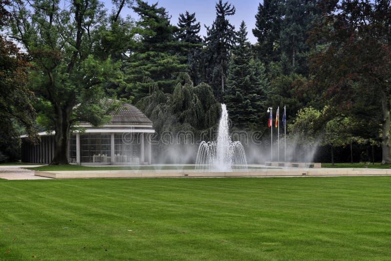 Park in Podebrady lizenzfreies stockfoto