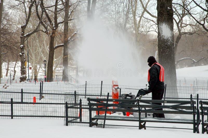 park podmuchowy śnieg obraz stock