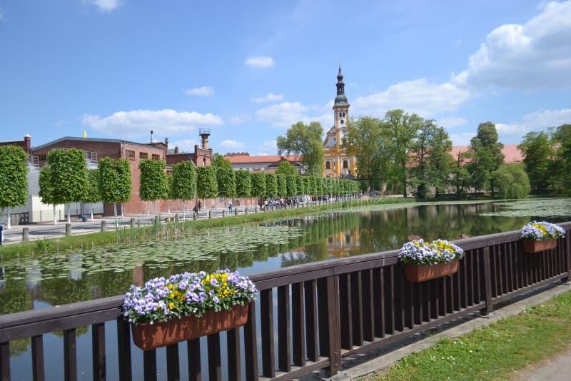 Park przy Frankfort na Oder fotografia royalty free