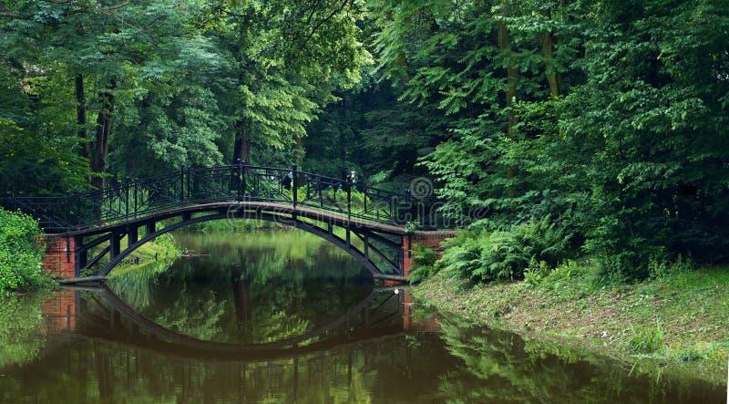 Park in Pszczyna stock image