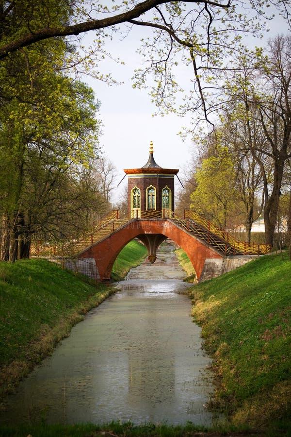 Park in Pushkin, Russia stock photo