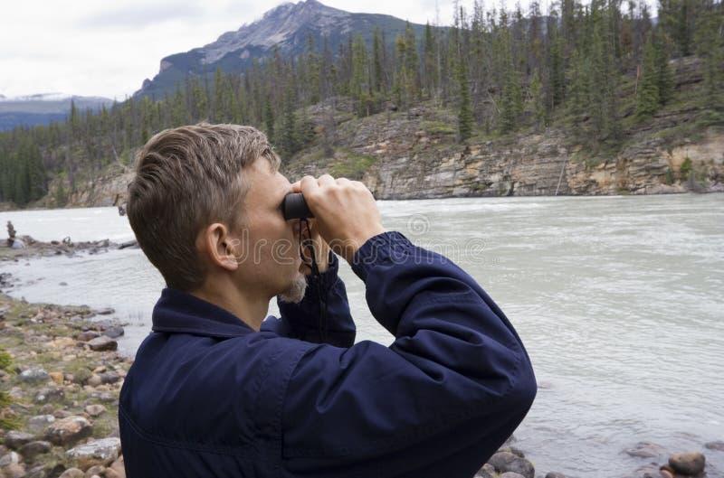Download Park Ranger Looking Through Binoculars Royalty Free Stock Photos - Image: 6162008