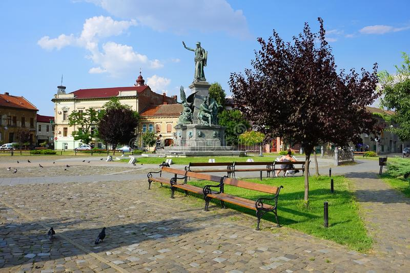 The Park of Reconciliation, Arad. Monument and buildings of the Reconciliation Park of Arad, Romania, Europe stock photo