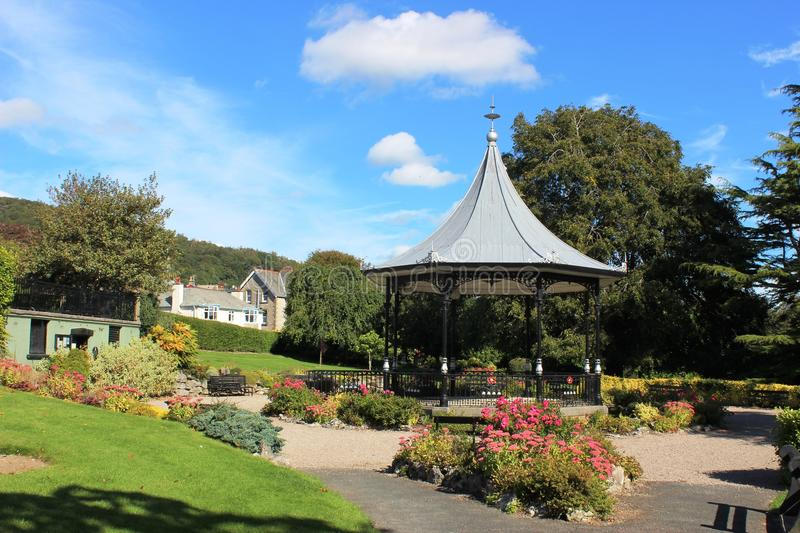 Park Road Gardens, Grange-over-Sands, Cumbria. Is an ornamental park just outside the centre of Grange-over-Sands that has achieved Green Flag status in several royalty free stock images
