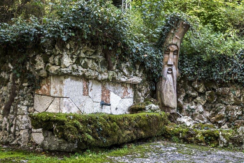 Park of rocky monastery of Aladzga, Bulgaria. stock photos