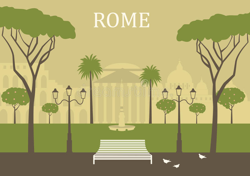 Download Park In Rome. Stock Photo - Image: 32806680