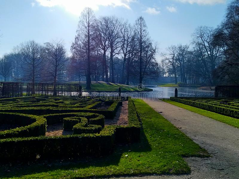 Park in Rotterdam - Netherlands stock photo
