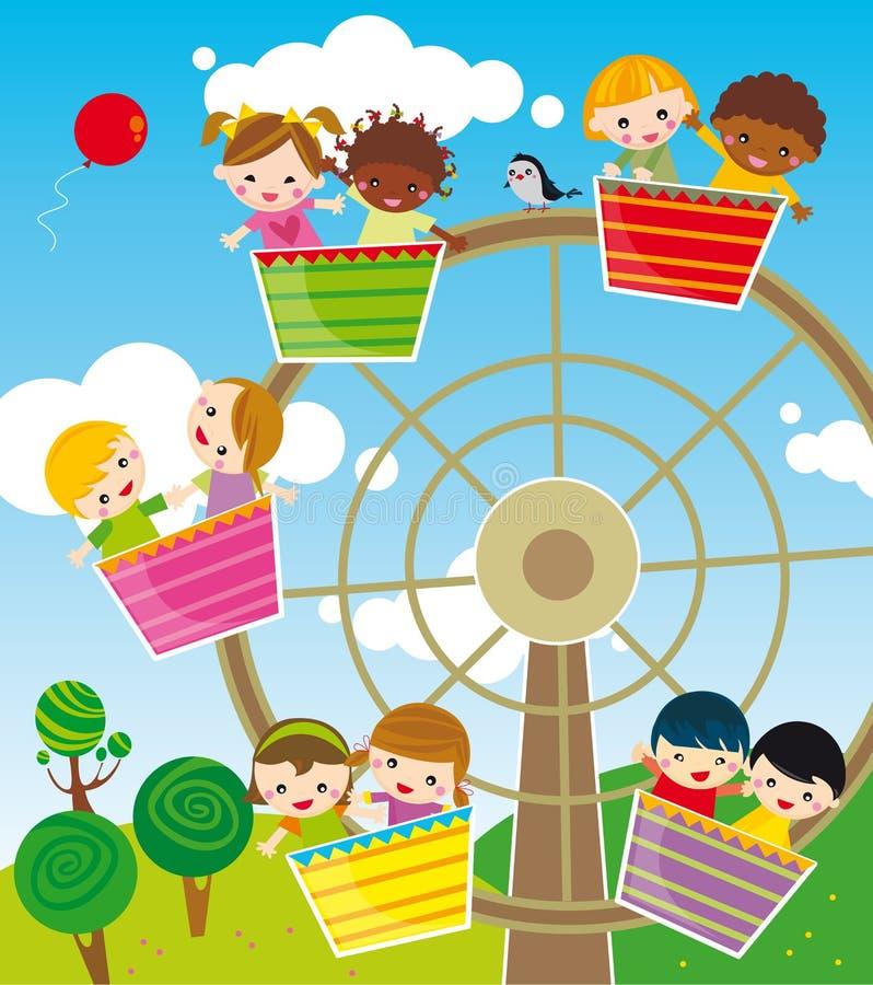 park rozrywki royalty ilustracja