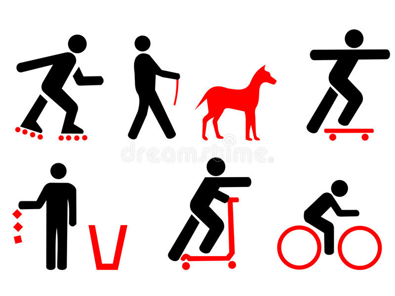Park Rules with red symbols royalty free illustration