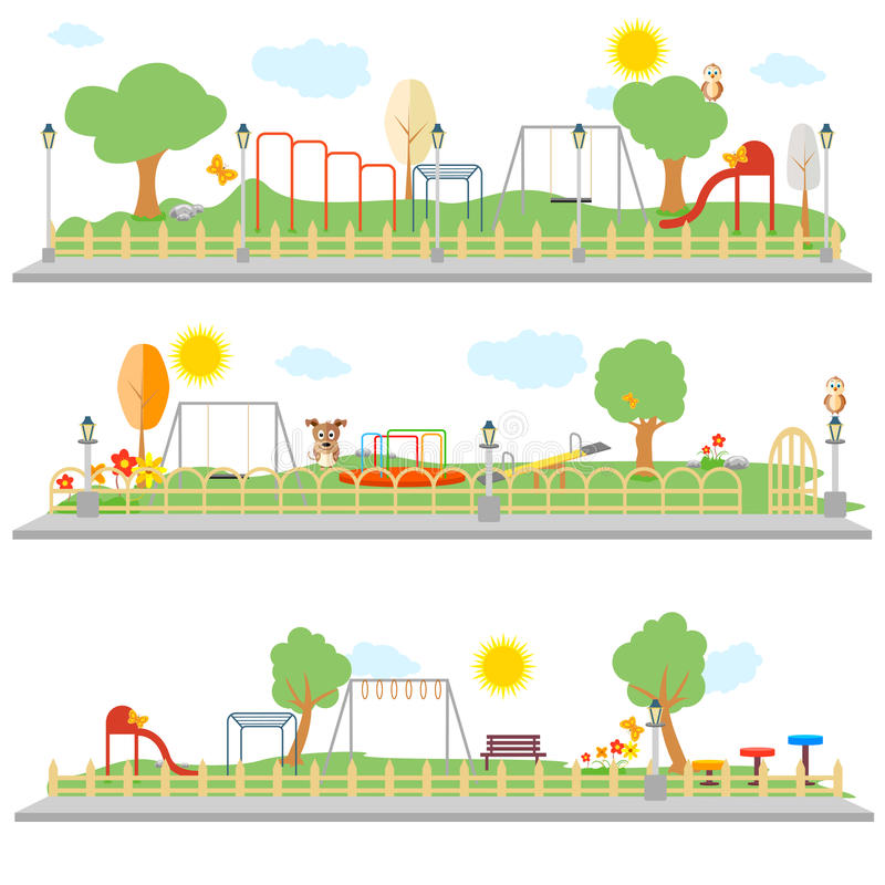Park Scene stock illustration
