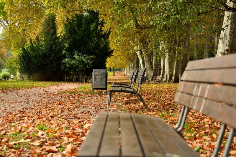 Park seat view royalty free stock photography