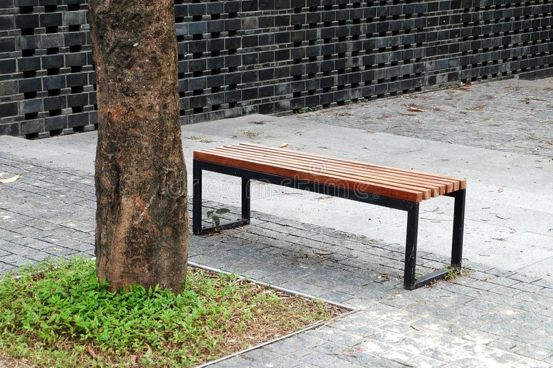Park seats. Seats in the public environment are places where designers can use their brains. Park seats are always functional and ornamental, and all sorts of stock photo