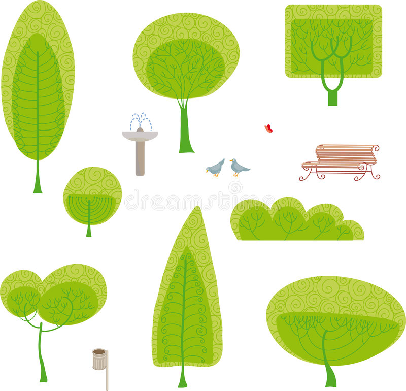 Park set stock illustration