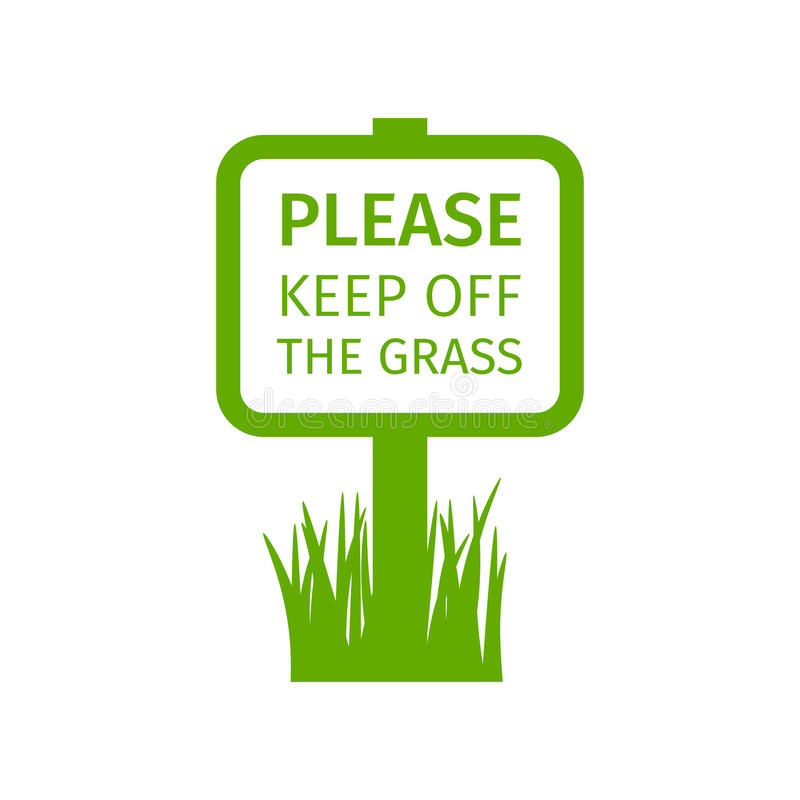 Free Park Sign Keep Off The Grass Royalty Free Stock Photos - 96857268