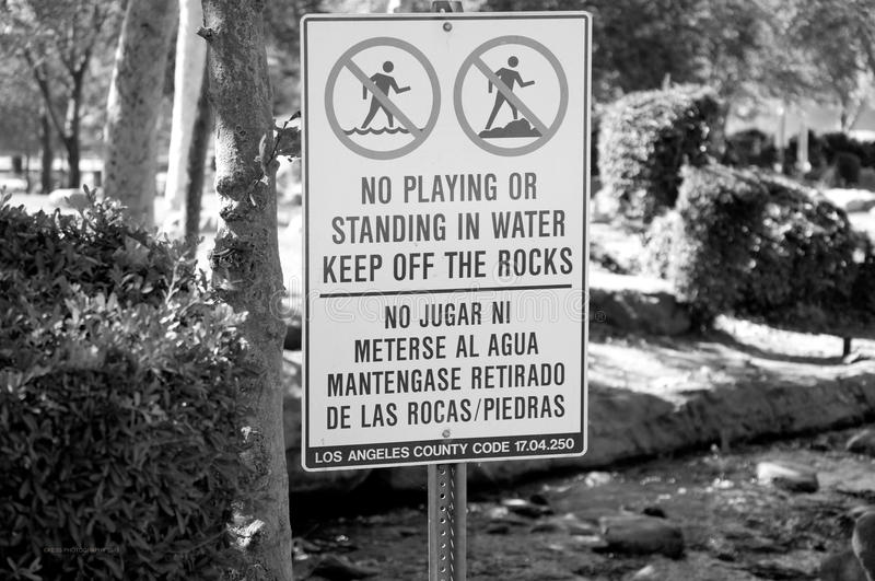 Park signs royalty free stock photography