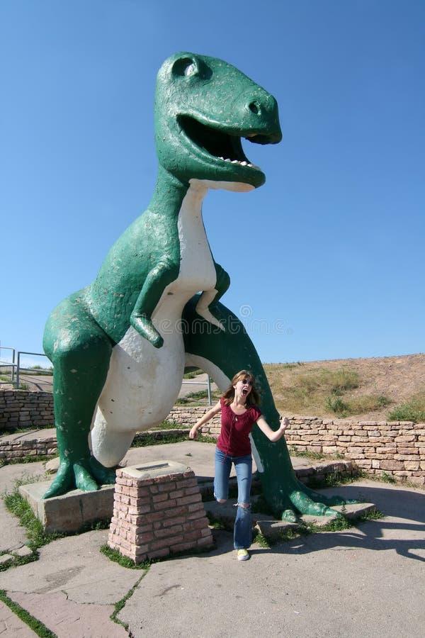 park snabba södra USA för stadsdakota dinosaur royaltyfri foto