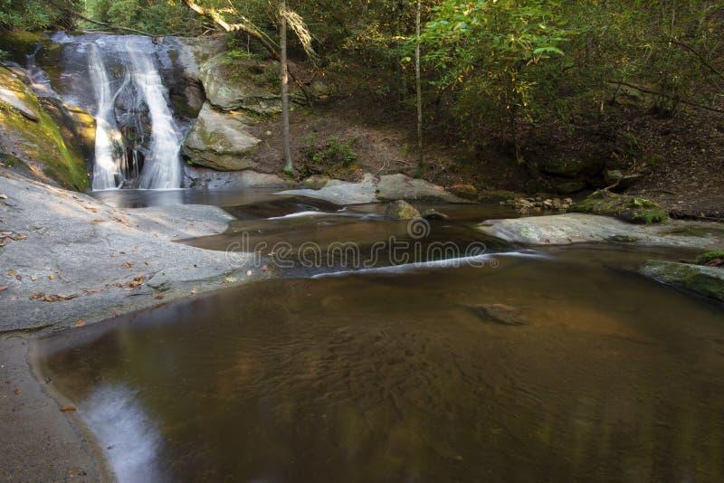 Park stanowy Wdowa Falls in Stone Mountain zdjęcia royalty free