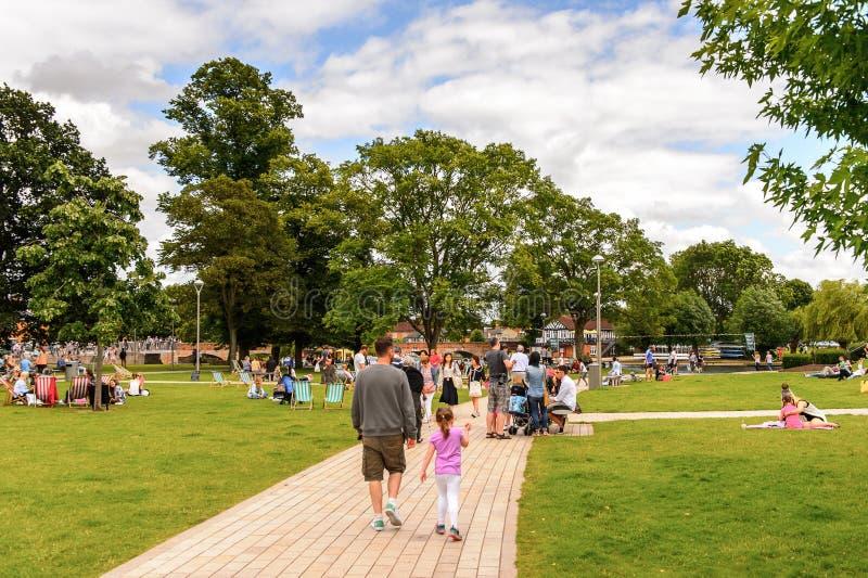 Park of Stratford on Avon, England, United Kingdom royalty free stock photo