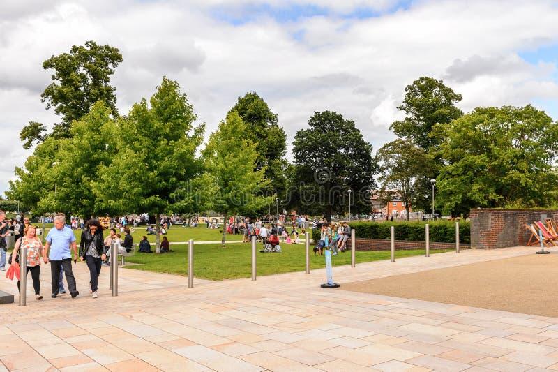 Park of Stratford on Avon, England, United Kingdom stock photos