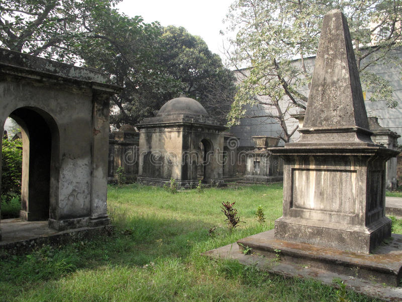 Park Street Cemetary in the city of Kolkata. India stock images