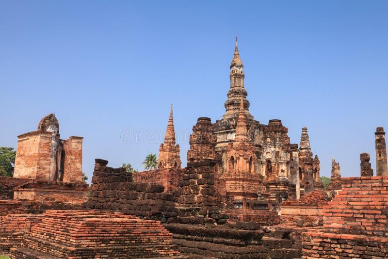 Download Park Sukhothai Historyczne Buddyjskiej świątyni Ruiny W Sukhothai Cześć Zdjęcie Stock - Obraz złożonej z świątynia, statua: 53783310